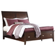 Evanburg California King Sleigh Storage Bed in Brown