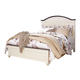 Woodanville King Panel Bed in White/ Brown