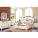 Woodanville 4pc Panel Bedroom Set in White/Brown