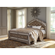 Birlanny California King Upholstered Panel Bed in Silver PROMO