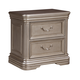 Birlanny 2 Drawer Nightstand in Silver B720-92