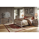 Birlanny 4pc Upholstered Panel Bedroom Set in Silver