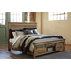 Sommerford California King Panel Storage Bed in Brown