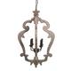 Jocelin Wood Pendant Light in Distressed White L000548
