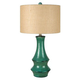 Jenci Ceramic Table Lamp in Antique Teal L100584