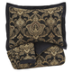 Amberlin 3pc King Comforter Set in Onyx/Gold Q327003K