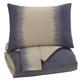 Brandon 3pc Queen Comforter Set in Indigo Q404003Q