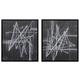 Duena 2pc Wall Art Set in Black/White A8000201