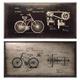 Destino Wall Decor Set in Black/Silver (Set of 2) A8010052