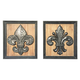 Donnan 2pc Wall Decor Set in Black/Natural A8010058