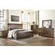 Lakeleigh 4pc Panel Bedroom Set in Brown