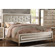 Acme Voeville Cal King Bed in Matte Gold & Antique White 20994CK