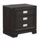 Aspenhome Front Street 2 Drawer Nightstand in Black Licorice IFS-450-BLC