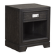 Aspenhome Front Street 1 Drawer Nightstand in Black Licorice IFS-451-BLC