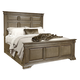 Aspenhome Arcadia King Panel Storage Bed in Truffle