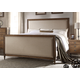 Acme Inverness High Footboard California King Bed in Reclaimed Oak 26084CK
