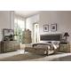 Acme Athouman 4pc Panel Storage Bedroom Set in Weathered Oak