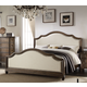 Acme Baudouin Upholstered Queen Bed in Weathered Oak 26110Q