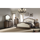 Acme Baudouin 4-Piece Upholstered Bedroom Set in Weathered Oak