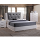Acme Lorimar II Platform King Bed in Gray and White 22617EK