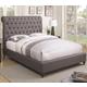 Coaster Devon King Upholstered Bed in Grey Fabric 300527KE