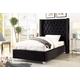 Meridian Furniture Aiden Velvet Full Bed in Black AidenBlack-F