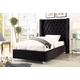 Meridian Furniture Aiden Velvet Twin Bed in Black AidenBlack-T