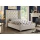 Meridian Furniture Aiden Velvet Full Bed in Cream AidenCream-F