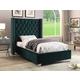 Meridian Furniture Aiden Velvet Full Bed in Green AidenGreen-F