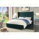 Meridian Furniture Aiden Velvet King Bed in Green AidenGreen-K