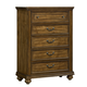 Standard Furniture Monterey 5-Drawer Chest in Caramel Pine 81905