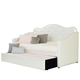 Standard Furniture Caroline Twin Upholstered Daybed in Pearlescent White
