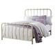 Standard Furniture Tristen Full Metal Bed in Warm White