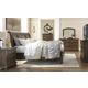 Flynnter 4pc Sleigh Storage Bedroom Set in Medium Brown
