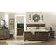 Flynnter 4pc Panel Bedroom Set in Medium Brown