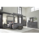 Baystorm 4pc Poster w/ Canopy Bedroom Set in Gray