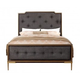 Acme Eschenbach Upholstered King Bed in Cherry 25957EK