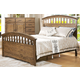New Classic Furniture Solana King Arch Bed in Cocoa 00-534-100