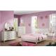Acme Dorothy 4pc Upholstered Bedroom Set in Ivory