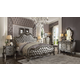 Acme Versailles 4pc Upholstered Bedroom Set in Antique Platinum
