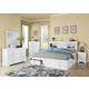 Acme Louis Philippe lll 5pc Storage Bedroom Set in Real White