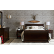 Stone & Leigh Teaberry Lane 4pc Sleigh Bedroom Set in Midnight Cherry