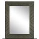 Magnussen Furniture Cheswick Portrait Mirror in Washed Linen Grey B4095-42
