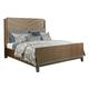 American Drew AD Modern Synergy Chevron Maple Cal King Bed 700-317R
