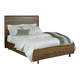 American Drew AD Modern Organics Luna Queen Panel Bed in Smokey Quartz and Burnished Brass 600-313R