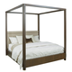American Drew AD Modern Organics Freemont King Canopy Bed in Smokey Quartz and Burnished Brass 600-326R CODE:UNIV20 for 20% Off