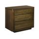 American Drew AD Modern Organics Hays 3 Drawer Nightstand in Smokey Quartz and Burnished Brass 600-420 CODE:UNIV20 for 20% Off
