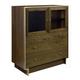 American Drew AD Modern Organics Laurel Bunching Cabinet in Smokey Quartz and Burnished Brass 600-220