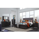 Magnussen Furniture Proximity Heights 4-Piece Upholstered Storage Bedroom Set in Smoke Anthracite
