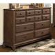 New Classic Furniture Hemingway Dresser in Smokey Walnut B419-050 PROMO
